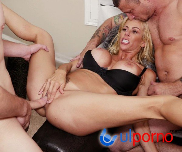 Alexis Fawx Fucks Her Stepson And His Buddy On Halloween Night (Blonde) [SD]