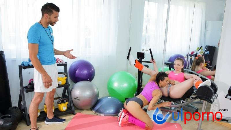 Lillie Star, Lady Bug - Milf and petite nymph gym threesome (Milf) [SD]